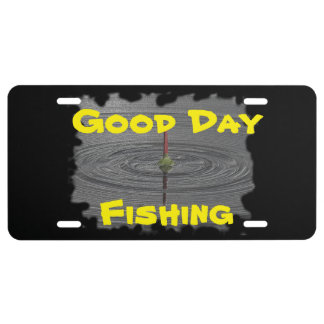Fish license plates zazzle for Day fishing license