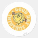 Good Day Little Miss Sunshine Classic Round Sticker