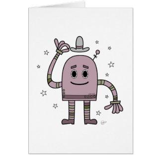 Good Day Robot - Blank Greeting Card