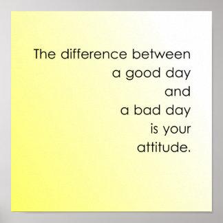 Good Day vs. Bad Day Poster