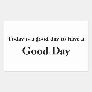 Good Day White Sticker