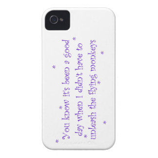Good day without flying monkeys iPhone 4 case