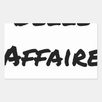 Good deal - Word games - François City Rectangular Sticker