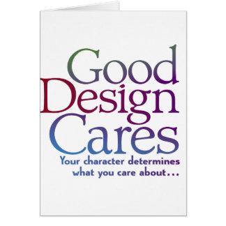 Good Design Cares Greeting Card