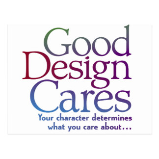 Good Design Cares Postcard