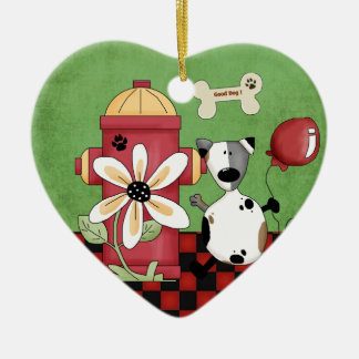 Good Dog Cartoon Animal Personalized Phtoto Ceramic Ornament