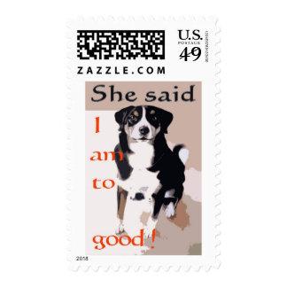 Good dog cartoon postage stamps