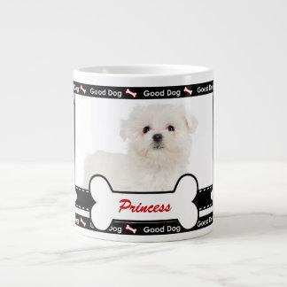 Good Dog Custom Photo Paw and Bone Pattern 20 Oz Large Ceramic Coffee Mug