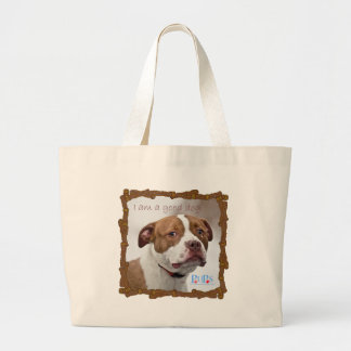 Good Dog Pit Bull Rescue Canvas Bags