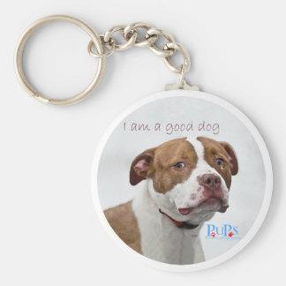 Good Dog Pit Bull Rescue Keychain