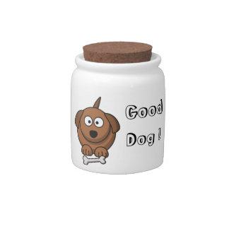Good Dog Treat Jar Candy Dishes