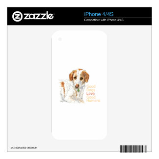 Good dogs love good humans watercolor iPhone 4 decal