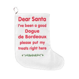 good Dogue de Bordeaux Large Christmas Stocking