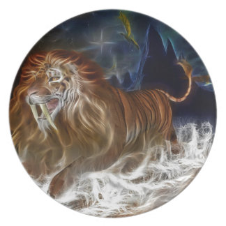 """GOOD DREAMS: """"Lion Ghost"""" Plate"""
