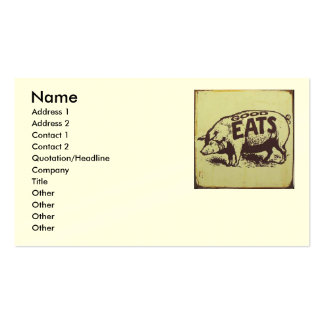 Good Eats Catering Double-Sided Standard Business Cards (Pack Of 100)