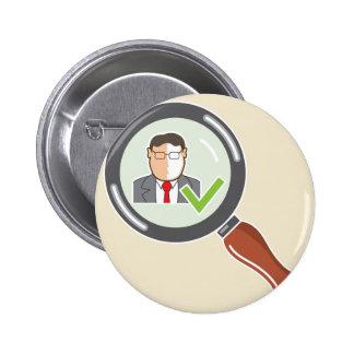 Good employee Background check Ok Button