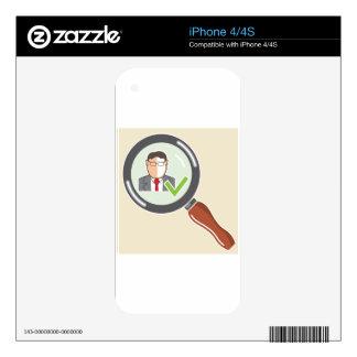 Good employee Background check Ok iPhone 4 Skin