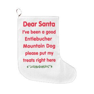 good Entlebucher Mountain Dog Large Christmas Stocking