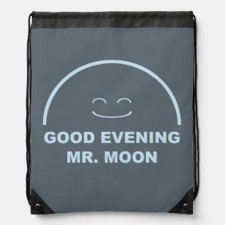 Good Evening Mr. Moon Drawstring Backpack