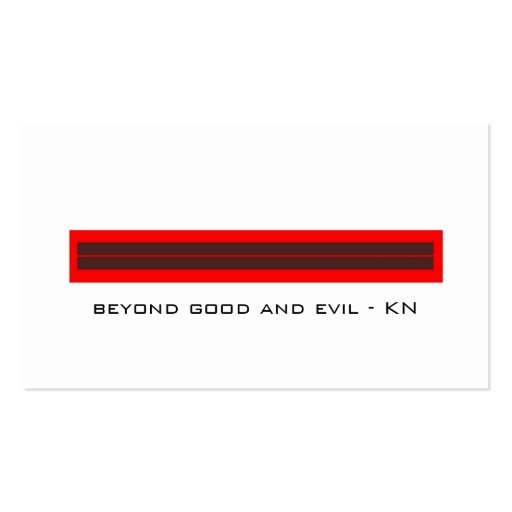 good evil BC Business Card Template