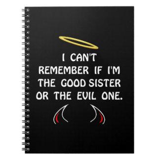 Good Evil Sister Spiral Notebook
