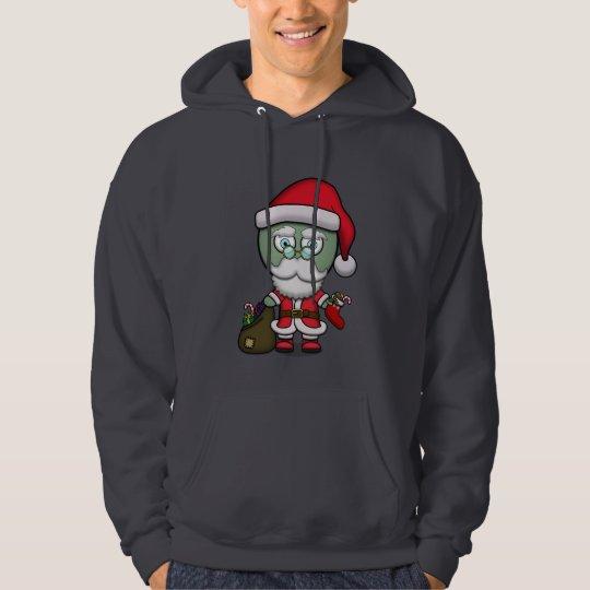 Good & Evil Zombie Santa Hoodie