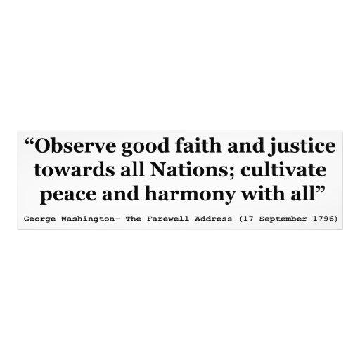 Good Faith and Justice Peace and Harmony Photo