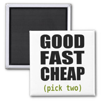 Good Fast Cheap Magnetic 2 Inch Square Magnet