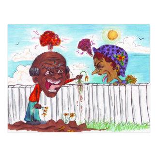 Good Fences Make Good Neighbors Postcard