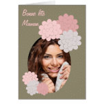 good festival mom flowers and photograph greeting card