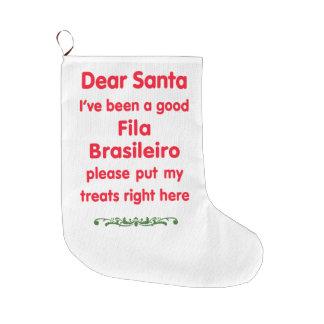 good Fila Brasileiro Large Christmas Stocking