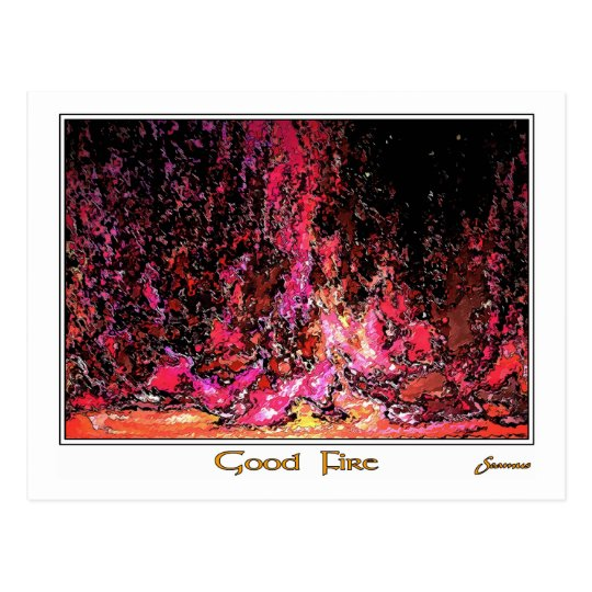 Good Fire Postcard