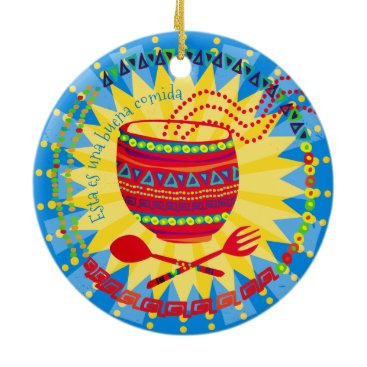 Aztec Themed Good food Mexican culinary Christmas ornament