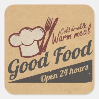 Good Food Square Sticker