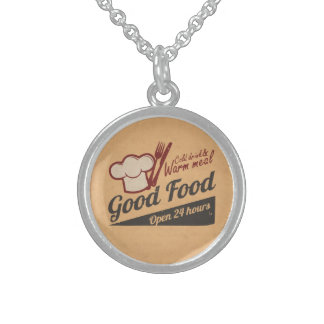 Good Food Sterling Silver Necklace