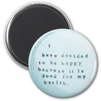 good for health 2 inch round magnet