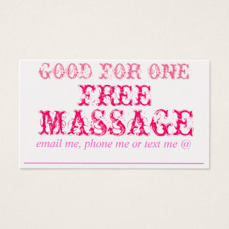 GOOD FOR ONE FREE MASSAGE - GOLD CARD