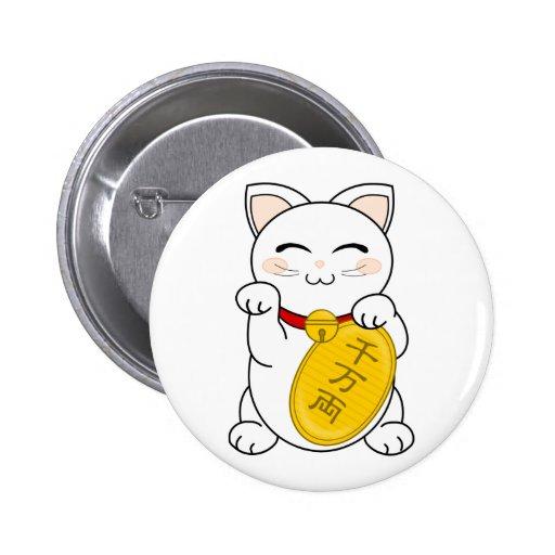 Good Fortune Cat - Maneki Neko Buttons
