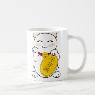 Good Fortune Cat - Maneki Neko Classic White Coffee Mug