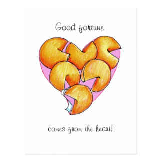 Good Fortune comes from the heart Postcard