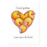Good Fortune comes from the heart Postcards