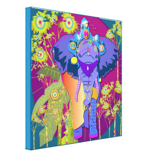 Good Fortune Elephant Canvas Prints