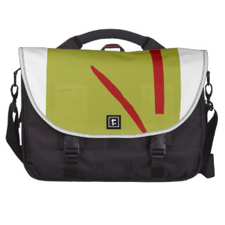 Good Fortune Green Tea and Red Ancient Laptop Commuter Bag