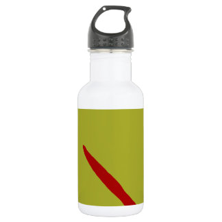 Good Fortune Green Tea and Red Ancient Stainless Steel Water Bottle