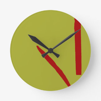 Good Fortune Green Tea and Red Ancient Wallclocks