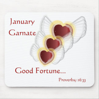 Good Fortune Mouse Pad For January's  Birthday