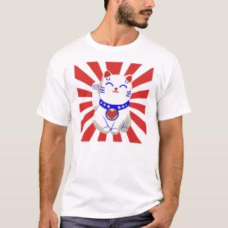 Good fortune neko cat Japan earthquake relief T-Shirt