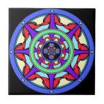 Good Fortune Wheel Ceramic Tile