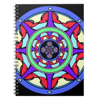Good Fortune Wheel Spiral Notebook