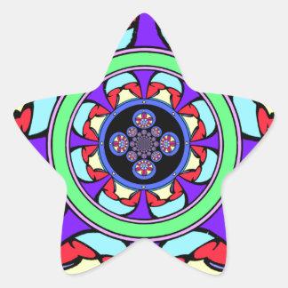 Good Fortune Wheel Star Sticker
